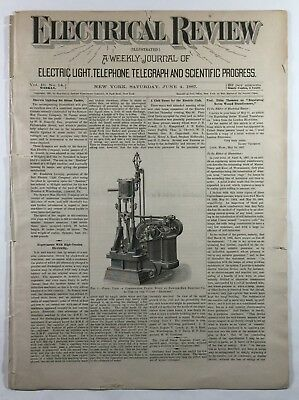 Electrical Review A Weekly Journal Illustrated Vol 10 No 14 Elihu Thomson 1887