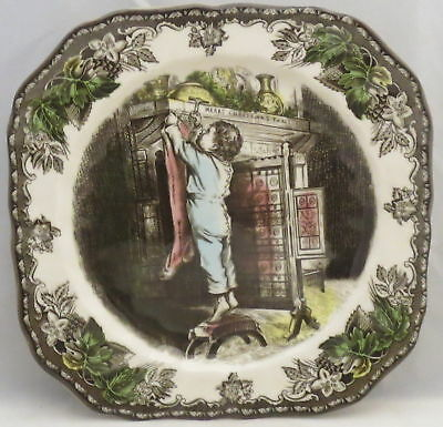 Johnson Brothers Friendly Village, Square Accent Salad Plate (Hanging Stockings)