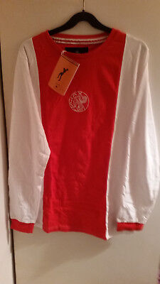 Retro Ajax 70's Home Shirt With Number14 On Back (Medium)