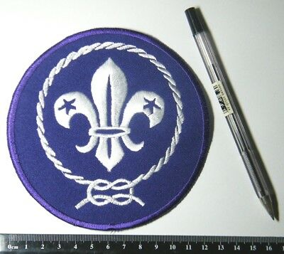 Large Embroidered WORLD SCOUT BADGE, BIG 13cm diameter, BEAUTIFUL CENTREPIECE