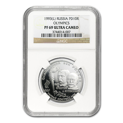 1993 Russia 1/2 oz Palladium Olympic 10 Rouble PF-69 NGC - SKU #80657
