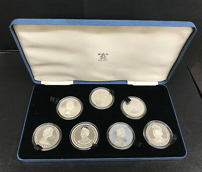 1980 Queen Elizabeth 80th Birthday Silver Proof Commemorative Crown Coin Set