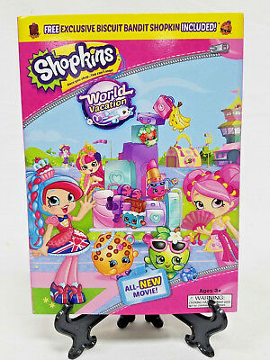 Shopkins World Vacation DVD Includes Exclusive Biscuit Bandit Shopkin New Sealed