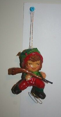 Vintage Paper Mache Christmas Ornaments Hockey Player