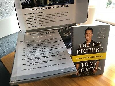 100% New Sealed P90X with SIGNED Tony Horton Book THE BIG PICTURE - GREAT GIFT!