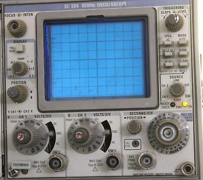 TEKTRONIX SC 504 80 Mhz OSCILLOSCOPE PARTS OR REPAIR
