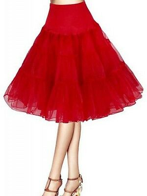 Plus Size Red Rockabilly Swing Layered Petticoat Skirt 65cm,  AU Size 16 - 20