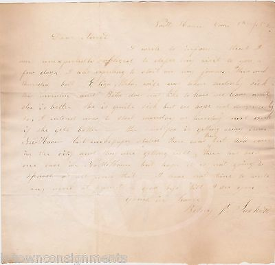 New Haven Ct Smallpox Epidemic In America Antique Medical News Letter 1856