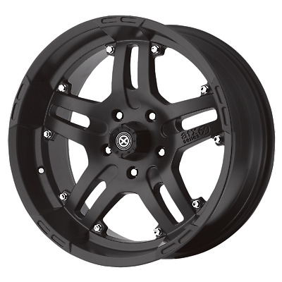 4 NEW ATX SERIES ARTILLERY 17x9 5x139.70 CAST IRON BLACK (-12 mm) RIMS/WHEELS