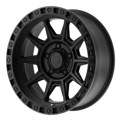 4 NEW ATX SERIES AX202 16x8 5x139.70 CAST IRON BLACK (0 mm) RIMS/WHEELS