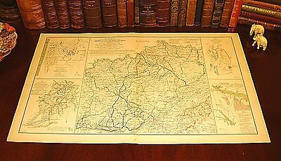 Original Antique Civil War Map KENTUCKY TENNESSEE Army of Cumberland Campaign