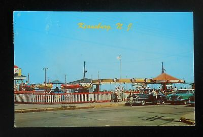 1950s A Section of the Amusement Area Rides Old Cars Keansburg NJ Monmouth Co PC