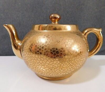 G&s Ltd Albany & Harvey Potteries Burslem Teapot Gold Asian Style