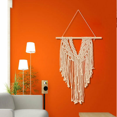 Retro Hand Knitted Cotton Macrame Tapestry Wall Hanging Handmade Art Home Decor