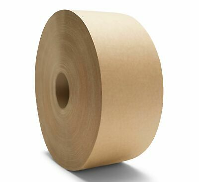 "Gummed Tape 3"" x 600' Water Activated Brown Paper Non Reinforced Tapes 10 Rolls"