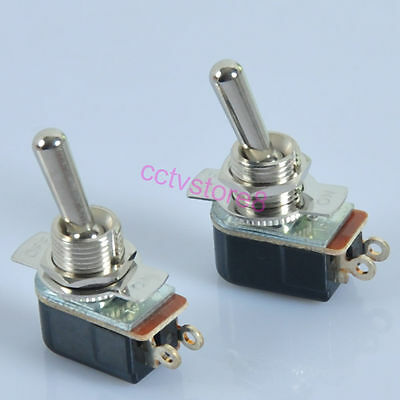 5pcs Toggle Switch SPST ON-OFF For Guitar Tube Amp Power Standby Audio HIFI