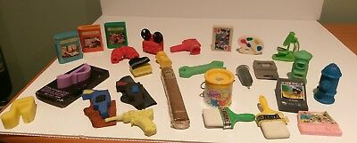 Vintage Eraser Hobby interests Lot rubbers erasers collectable rare 80's & 90's