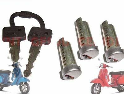 Vespa Px Lml Star Stella Steering Tool Box &lock Barrel Set Of 3+2 Key @au