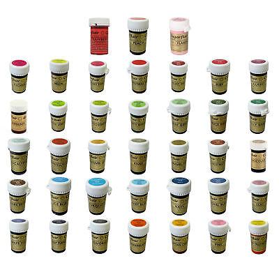 Sugarflair FULL SET 38 Spectral Paste Edible Colour for Cake Icing Decorating