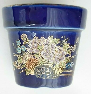 Japan Maceta De Porcelana En Oro Porcelain In Gold Plant Pot