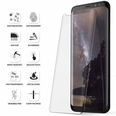 For Samsung Galaxy S8 Poetic [Full Coverage] Tempered Glass Screen Protector CR
