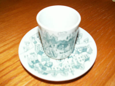 NYMOLLE Art Faience HOYRUP Denmark Cigarette Cup & Ashtray Scandinavian Holder