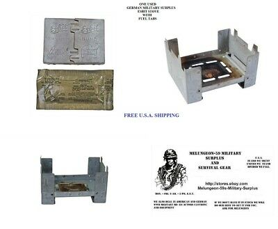 German Esbit Stove Used w/ New Fuel Pack Emergency Survival Doomsday Prepper BOB