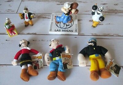 Mixed lot of Popeye Toys PVC MGM Grand Beanies