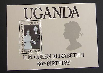 Uganda 1986 Queen's 60th Birthday MS529 MS MNH UM miniature sheet unmounted mint