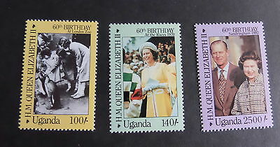 Uganda 1986 Queen's 60th Birthday UM MNH unmounted mint