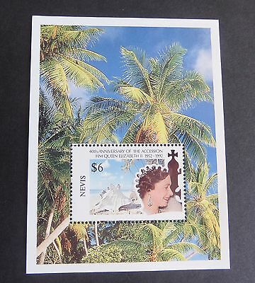 Nevis 1992 40th Ann Accession MS MNH UM Unmounted mint