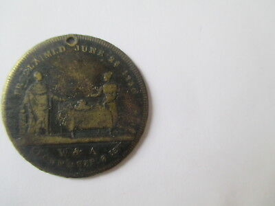 WILLIAM IV CORONATION BRASS MEDAL DATED 1831 (28 mm)