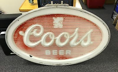 """Coors Beer Sign - Front Panel of Outdoor Vintage Can Sign - 48"""" W x 34"""" H"""