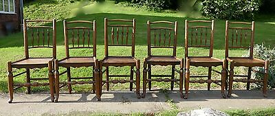Set of 6, 18th Century Clissett Style Elm and Ash Country Chairs