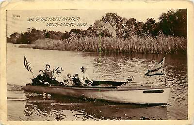 Iowa, IA, Independence, Boat on the River 1912 Postcard