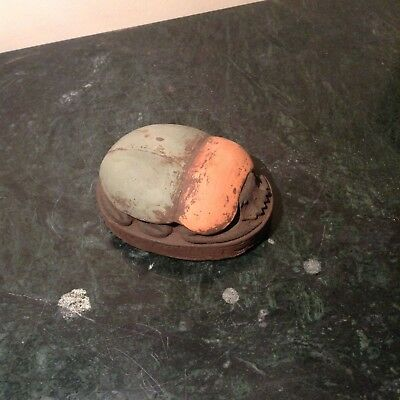 Rare Antique Ancient Egyptian Scarab Brings luck with scripts luck 1760-1680BC