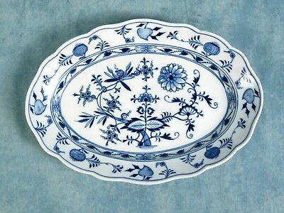 MEISSEN BLUE ONION Oval Crossed Swords Large Platter 1815