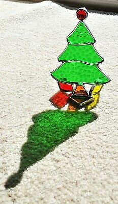 Leaded Stained Glass Christmas Tree Sun Catcher