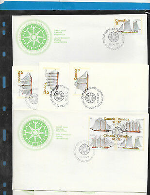 Canada  5 FDC     # 744 to 747