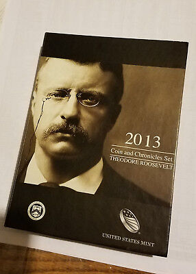 2013 Theodore Roosevelt Coin and Chronicles 3 Piece Gem Proof Set