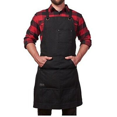 Industrial Apron Welding Safety Workshop Professional Heavy Duty Canvas Pockets