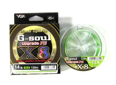 Ygk G-soul upgrade PEx8 8-strand fishing braided line.150m,lure,vertical,lrf,jig