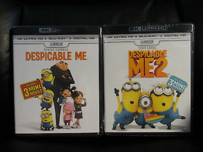 Despicable Me 1 and 2 4K UHD Blu-Ray Digital HD New Sealed Animated Comedy