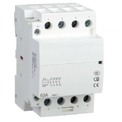 30AMP Lighting Contactor 4 Pole 40Amp NC Coil 120VAC 30a 32a 40a Normally Closed