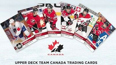 2017-18 Upperdeck Canadian Tire Team Canada Pick #1-100 FREE SHIPPING 5+ CANADA