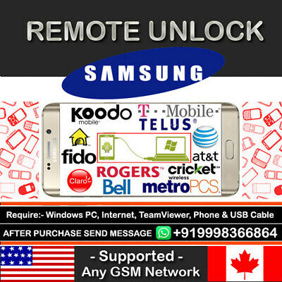 T-Mobile Usa Samsung Galaxy S2 S3 S4 S5 Note 2 3 4 Remote Unlock Code Service