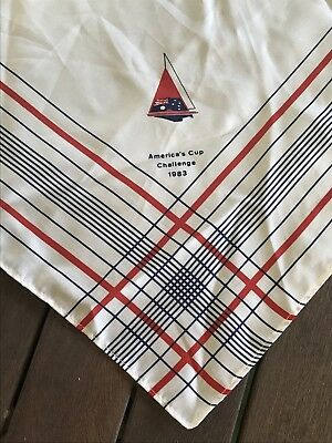Vintage Scarf from AMERICA'S CUP CHALLENGE 1983 Austico Made in Australia