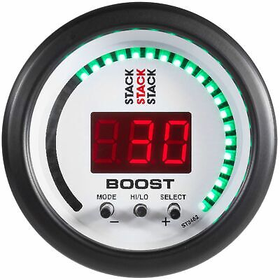 Stack Digital LED Car Electronic Turbo Boost Controller EBC Gauge | White Face
