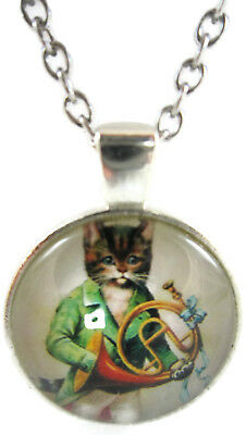 Cat Necklace Funny Jewelry Unique Pendant Xmas Gift for Holiday Cheap Unusual