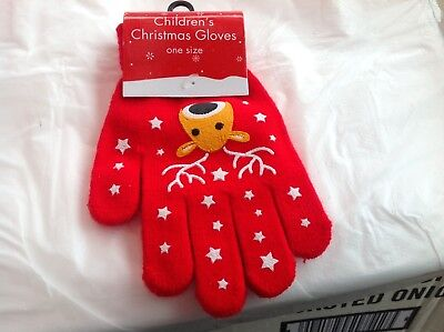 Childrens Christmas gloves